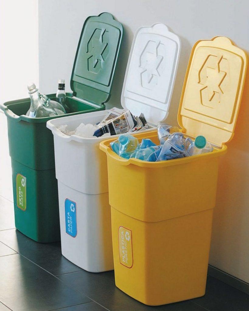 Umístění odpadních košů na tříděný odpad
